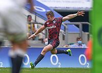 4th July 2021; Twickenham, London, England; International Rugby, Autumn Internationals, England versus United States of America; Luke Carty of USA kicks a conversion