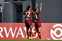 Paloma Lazaro of AS Roma celebrates after scoring the goal of 1-1 during the women Serie A football match between AS Roma and ACF Fiorentina at Tre Fontane Stadium in Roma (Italy), November 7th, 2020. Photo Andrea Staccioli / Insidefoto