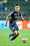 SC Kitchee midfielder Yang Huang in action  during the Nike Lunar New Year Cup 2017 match between SC Kitchee (HKG) and Auckland City FC (NZL) on January 31, 2017 in Hong Kong, Hong Kong. Photo by Marcio Rodrigo Machado / Power Sport Images