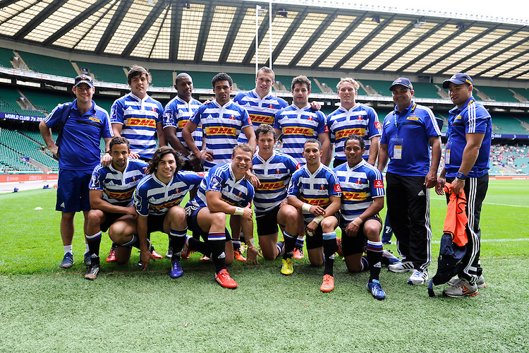 The DHL Western Province team during the World Club 7s at Twickenham on Sunday 18th August 2013 (Photo by Rob Munro)
