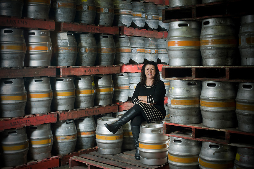Karen Hester Director of Operations for Adnams Brewery at the distribution depot in Southwold, Sufolk.