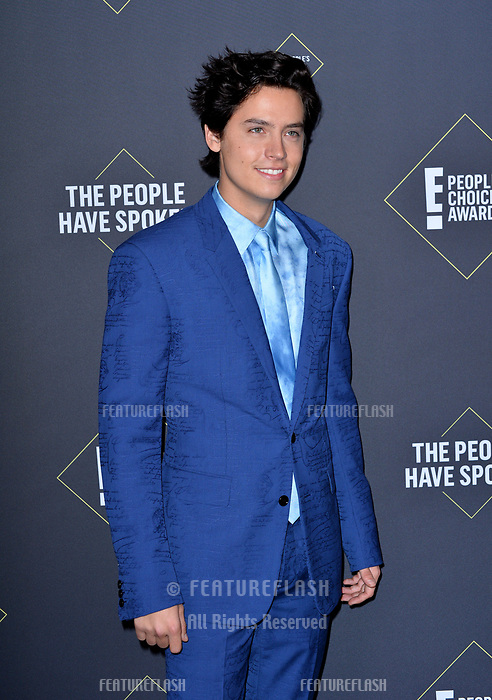 SANTA MONICA, USA. November 11, 2019: Cole Sprouse at the 2019 E! People's Choice Awards at Santa Monica Barker Hangar.<br /> Picture: Paul Smith/Featureflash