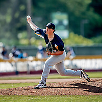 20 June 2021: Westfield Starfires pitcher Noah Lewis, from South Portland, ME, on the mound against the Vermont Lake Monsters at Centennial Field in Burlington, Vermont. The Starfires defeated the Vermont Lake Monsters 10-2 at Centennial Field, in Burlington, Vermont. Mandatory Credit: Ed Wolfstein Photo *** RAW (NEF) Image File Available ***