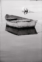 Moored rowboat and buoy<br />