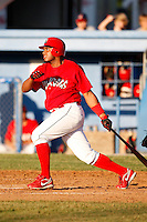 June 22, 2009:  Jairo Martinez of the Batavia Muckdogs at bat during a game at Dwyer Stadium in Batavia, NY.  The Muckdogs are the NY-Penn League Short-Season Class-A affiliate of the St. Louis Cardinals.  Photo by:  Mike Janes/Four Seam Images
