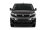 Car photography straight front view of a 2020 Peugeot e-Expert FT-Premium 5 Door Cargo Van Front View