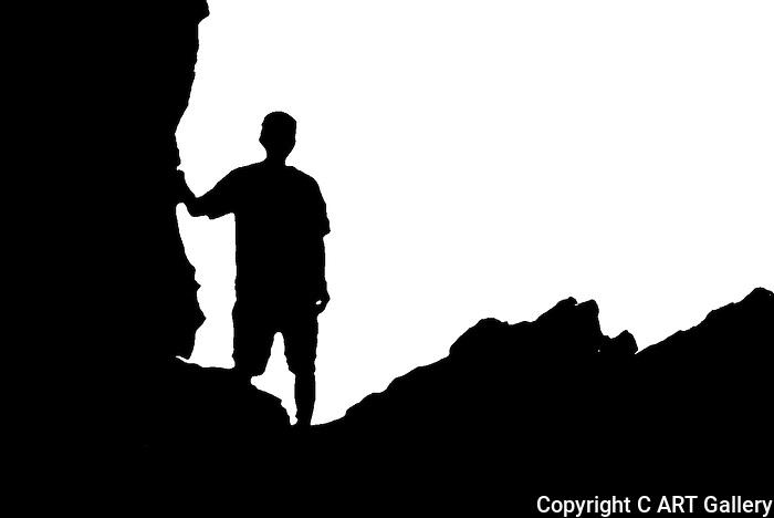 Boy on a rock, Coorona del Mar, CA.