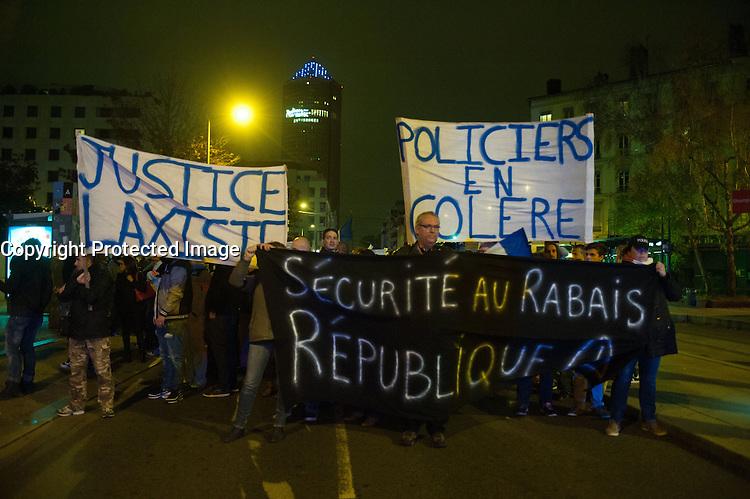 MANIFESTATION DES POLICIERS A LYON