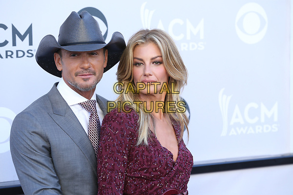 LAS VEGAS, NV - APRIL2: Tim McGraw and Faith Hill at the 52nd Academy Of Country Music Awards at the T-Mobile Arena in Las Vegas, Nevada on April 2, 2017.  <br /> CAP/MPI/EKP<br /> ©EKP/MPI/Capital Pictures