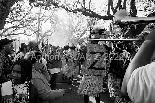 New Orleans, Louisiana.USA.February 28, 2006..Zulu parades in New Orleans for Mardi Gras.