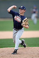 January 17, 2010:  Bryan Langlois (Oak Parks, CA) of the Baseball Factory American Team during the 2010 Under Armour Pre-Season All-America Tournament at Kino Sports Complex in Tucson, AZ.  Photo By Mike Janes/Four Seam Images
