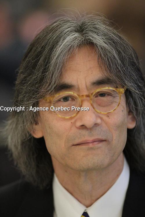 kent Nagano<br /> , OSM, mars 2016<br /> PHOTO : Agence Quebec Presse
