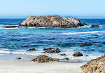 View of Bird Rock, on 17 Mile Drive at Pebble Beach