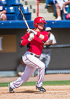 16 March 2014: Washington Nationals outfield prospect Drew Vettleson at bat during a Spring Training Game against the Detroit Tigers at Space Coast Stadium in Viera, Florida. The Tigers edged out the Nationals 2-1 in Grapefruit League play. Mandatory Credit: Ed Wolfstein Photo *** RAW (NEF) Image File Available ***