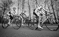 Liège-Bastogne-Liège 2013..Bart De Clercq (BEL), Frederik Veuchelen (BEL) & Sander Armee (BEL) form the belgian part of teh 5 man break that left early in the race.