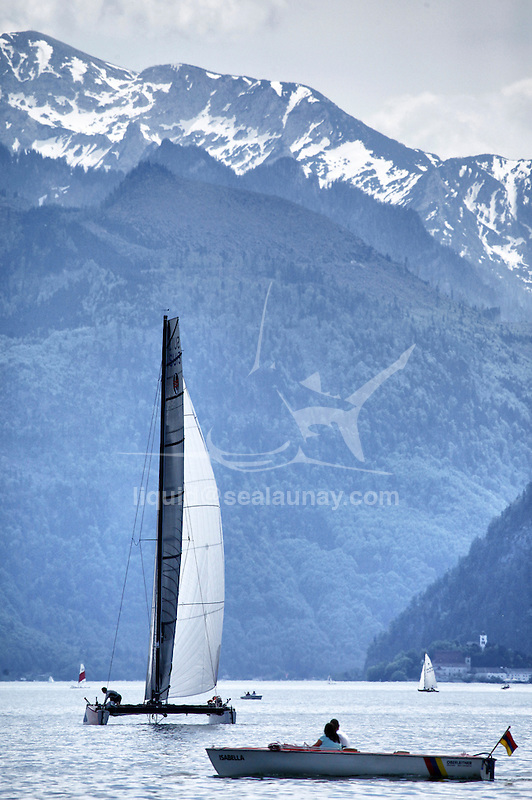 The GC32 is the one design for the future Great Cup Racing circuit, Austria Cup, Lake Traunsee, Gmunden, Austria. Day2.