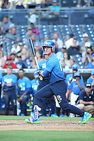 Cole Turney (14) of the West Team bats against the East Team during the Perfect Game All American Classic at Petco Park on August 14, 2016 in San Diego, California. West Team defeated the East Team, 13-0. (Larry Goren/Four Seam Images)