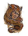 Illustration of Virgo woman zodiac sign over white background