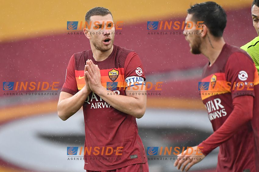 Edin Dzeko of Roma during the Serie A football match between AS Roma and FC Internazionale at Olimpico stadium in Roma (Italy), January 10th, 2021. Photo Andrea Staccioli / Insidefoto