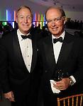 Gordon Carver and Jose Oti at the Men of Menil reception at Richmond Hall Thursday March 08,2012. (Dave Rossman Photo)