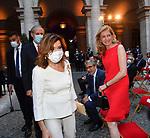 MARIA ELISABETTA ALBERTI CASELLATI CON LAURA MATTARELLA<br /> RICEVIMENTO 14 LUGLIO 2021 AMBASCIATA DI FRANCIA<br /> PALAZZO FARNESE ROMA
