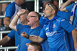 FC Luzern v St Johnstone...17.07.14  Europa League 2nd Round Qualifier<br /> Stuart Cosgrove cheers saints on from the stands<br /> Picture by Graeme Hart.<br /> Copyright Perthshire Picture Agency<br /> Tel: 01738 623350  Mobile: 07990 594431