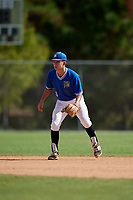 Noah Dehne during the WWBA World Championship at the Roger Dean Complex on October 20, 2018 in Jupiter, Florida.  Noah Dehne is a shortstop from St. Paul, Minnesota who attends Minnehaha Academy.  (Mike Janes/Four Seam Images)