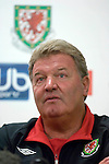 Wales Manager John Toshack during the International Friendly between Wales and Luxembourg at Parc y Scarlets in LLanelli..