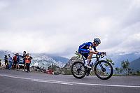 Rémi Cavagna (FRA/Deceuninck - QuickStep) up the Alto de La Cubilla<br /> <br /> Stage 16: Pravia to Alto de La Cubilla. Lena (144km)<br /> La Vuelta 2019<br /> <br /> ©kramon