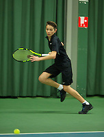 Rotterdam, The Netherlands, March 18, 2016,  TV Victoria, NOJK 14/18 years, Jesse de Jager (NED)<br /> Photo: Tennisimages/Henk Koster