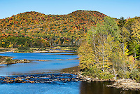 Autumn at West Canada Creek, New York, USA.