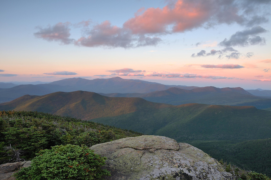 Mt. Hale and the Presidential Range beyond at sunset in New Hampshires White Mountains.