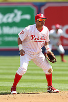 Reading Phillies shortstop Freddy Galvis #30 in the field during a game against the New Hampshire Fisher Cats at FirstEnergy Stadium on May 5, 2011 in Reading, Pennsylvania.  New Hampshire defeated Reading by the score of 10-5.  Photo By Mike Janes/Four Seam Images