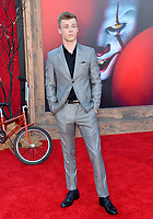 """LOS ANGELES, USA. August 27, 2019: Nicholas Hamilton at the premiere of """"IT Chapter Two"""" at the Regency Village Theatre.<br /> Picture: Paul Smith/Featureflash"""