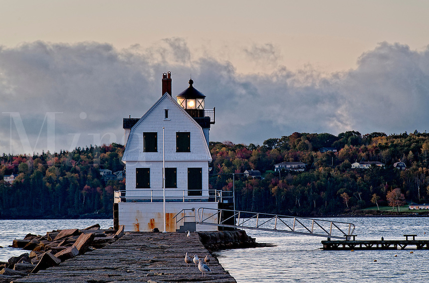 Rockland Breakwater Light, Rockland, Maine, ME, USA