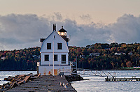 Rockland Breakwater Light, Rockland, Maine, ME, USA