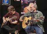 Jorma Koukenen jamming with Craig Thatcher of Martin Guitars while demonstrating his new Martin Guitar model at the NAMM Show - January 14, 2010