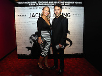 """Pictured: Actor Richard Mylan (R) with his girlfriend. Friday 12 September 2014<br /> Re: Premiere of """"Jack To A King"""" a film about the history of Swansea City Football Club, at The Empire Cinema in Leicester Square, London, UK."""