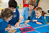 Developmental Dyscalculia specialist Trish Babtie works with children from St Richards with St Andrews C of E Primary School, Richmond.