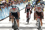 Daniel Martin (IRL) Israel Start-up Nation and Aurélien Paret Peintre (FRA) AG2R Citroën Team cross the finish line at the end of Stage 15 of the 2021 Tour de France, running 191.3km from Céret to Andorre-La-Vieille, Andorra. 11th July 2021.  <br /> Picture: Colin Flockton | Cyclefile<br /> <br /> All photos usage must carry mandatory copyright credit (© Cyclefile | Colin Flockton)
