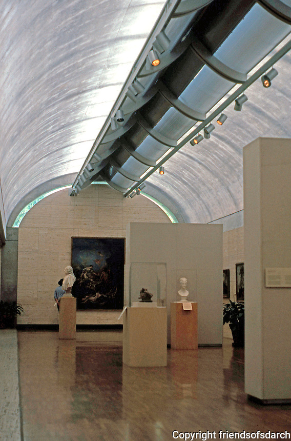 Louis I. Kahn: Kimbell Art Museum, Ft. Worth. Gallery.  Photo '96.