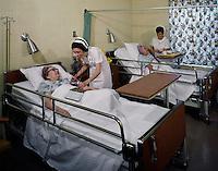 Nurse and senior women in nursing home