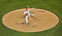 15 June 2012: Washington Nationals pitcher Gio Gonzalez on the mound against the New York Yankees at Nationals Park in Washington, DC. The Yankees defeated the Nationals 7-2 in the first game of their 3-game series. Mandatory Credit: Ed Wolfstein Photo