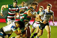 3rd January 2021; Welford Road Stadium, Leicester, Midlands, England; Premiership Rugby, Leicester Tigers versus Bath Rugby; Jasper Wiese of Leicester Tigers runs with the ball but is tackled down
