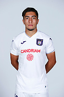 30th July 2020, Turbize, Belgium; Anouar Ait El Hadj midfielder of Anderlecht  pictured during the team photo shoot of Rsc Anderlecht prior the new Jupiler Pro League season, on 30/07/2020, in Tubize, Belgium.