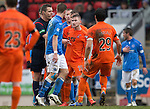 St Johnstone v Kilmarnock.....28.02.15<br /> Ref Euan Anderson separates Craig Slater and Steven MacLean<br /> Picture by Graeme Hart.<br /> Copyright Perthshire Picture Agency<br /> Tel: 01738 623350  Mobile: 07990 594431
