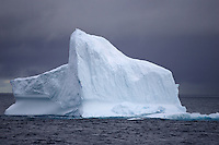 Iceberg floating in open sea, North east Baffin Bay, Greenland