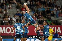 3rd April 2021; Eden Park, Auckland, New Zealand;  Blues lock Sam Darry during the Super Rugby Aotearoa rugby match between the Blues and the Hurricanes held at Eden Park, Auckland, New Zealand.