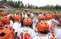 UVa men's lacrosse edged out Maryland 10-9 after 7 overtime periods representing the longest game ever played in NCAA history Saturday March 28, 2009 in Charlottesville, VA. Photo/Andrew Shurtleff
