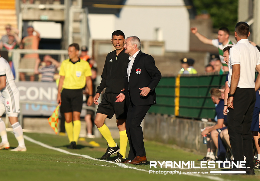 Cork City manager John Caulfield during the UEFA Champions League First Qualifying Round First Leg between Cork City and Legia Warsaw on Tuesday 10th July 2018 at Turners Cross, Cork. Photo By Michael P Ryan
